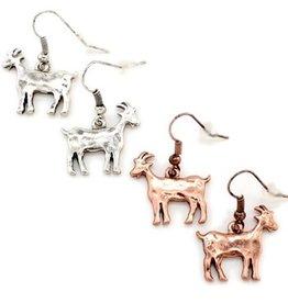 """Earrings """"Billy"""" Goat Copper"""