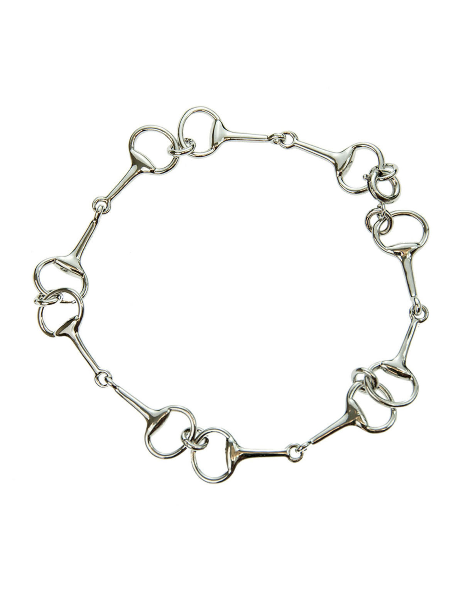 Platinum Plated Snaffle Bit Bracelet