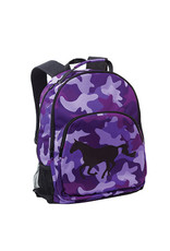 Backpack Camo w/ Galloping Horse Purple