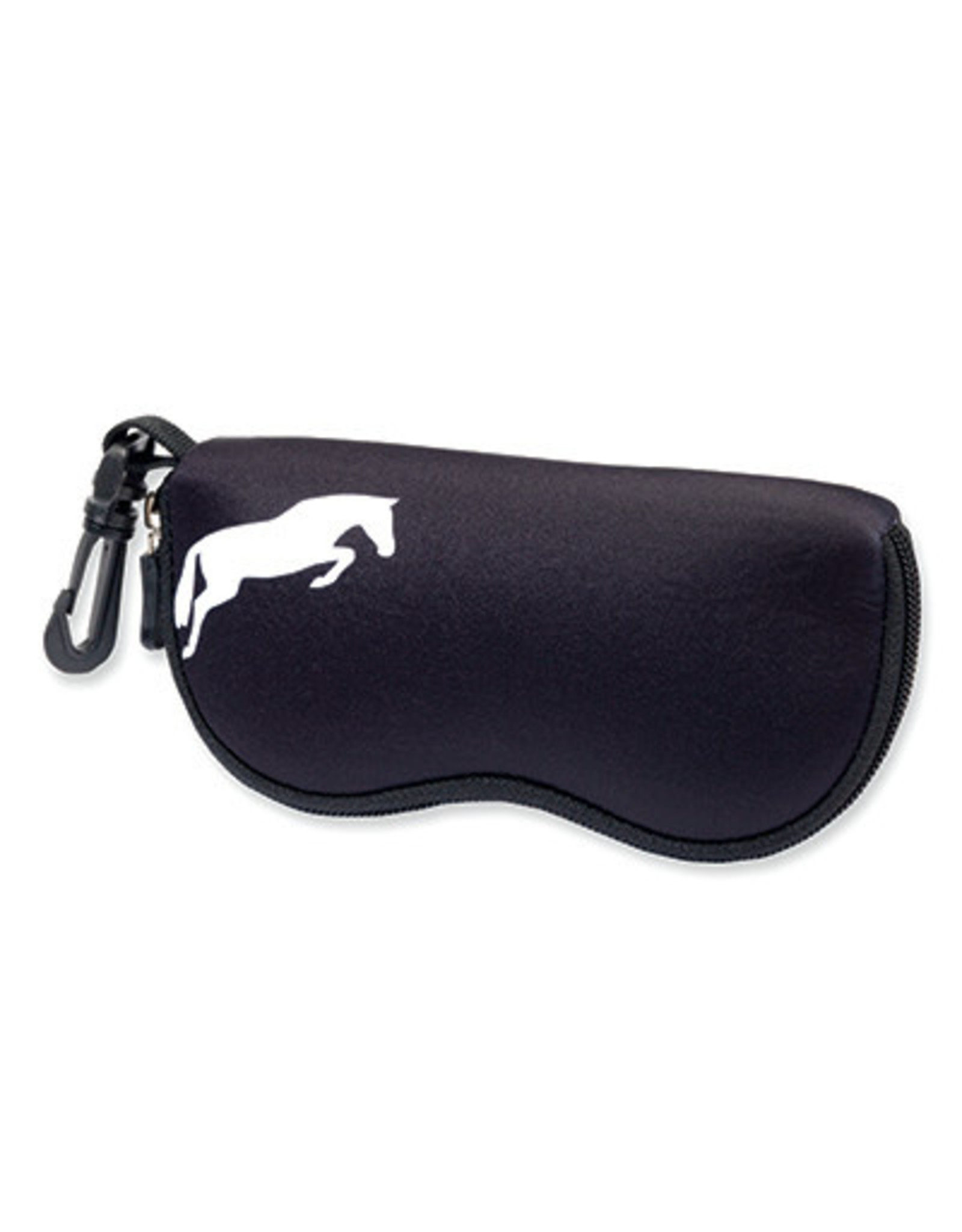 Sunglasses Case Neoprene Black w/ Jumper in White