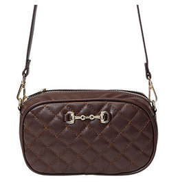 Snaffle Bit Quilted Cross Body & Waist Bag Br