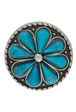 Turquoise Flower Concho Pair
