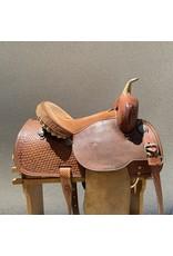 "Crates Barrel Saddle 14"" SQHB"