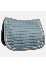 B Vertigo Lexington Dressage Saddle Pad Grisaille Blue Full