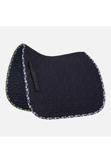 Horze All Purpose Saddle Pad with Flower Print Binding
