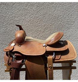 "13.5"" Alamo Saddlery Basketweave Full Quarter Horse Bars"