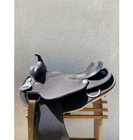 "Black Synthetic Western Saddle 18.5"" Semi-Quarter Bars"