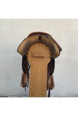 "Circle Y Equitation Show Saddle 16"" Seat SQHB w/ breatcollar and headstall"