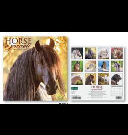 2021 18-Month Calendar Horse A Portrait