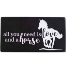 Shelf Sitter, All You Need is Love and a Horse
