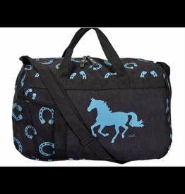 Travel Duffle Bag, Horseshoe Print