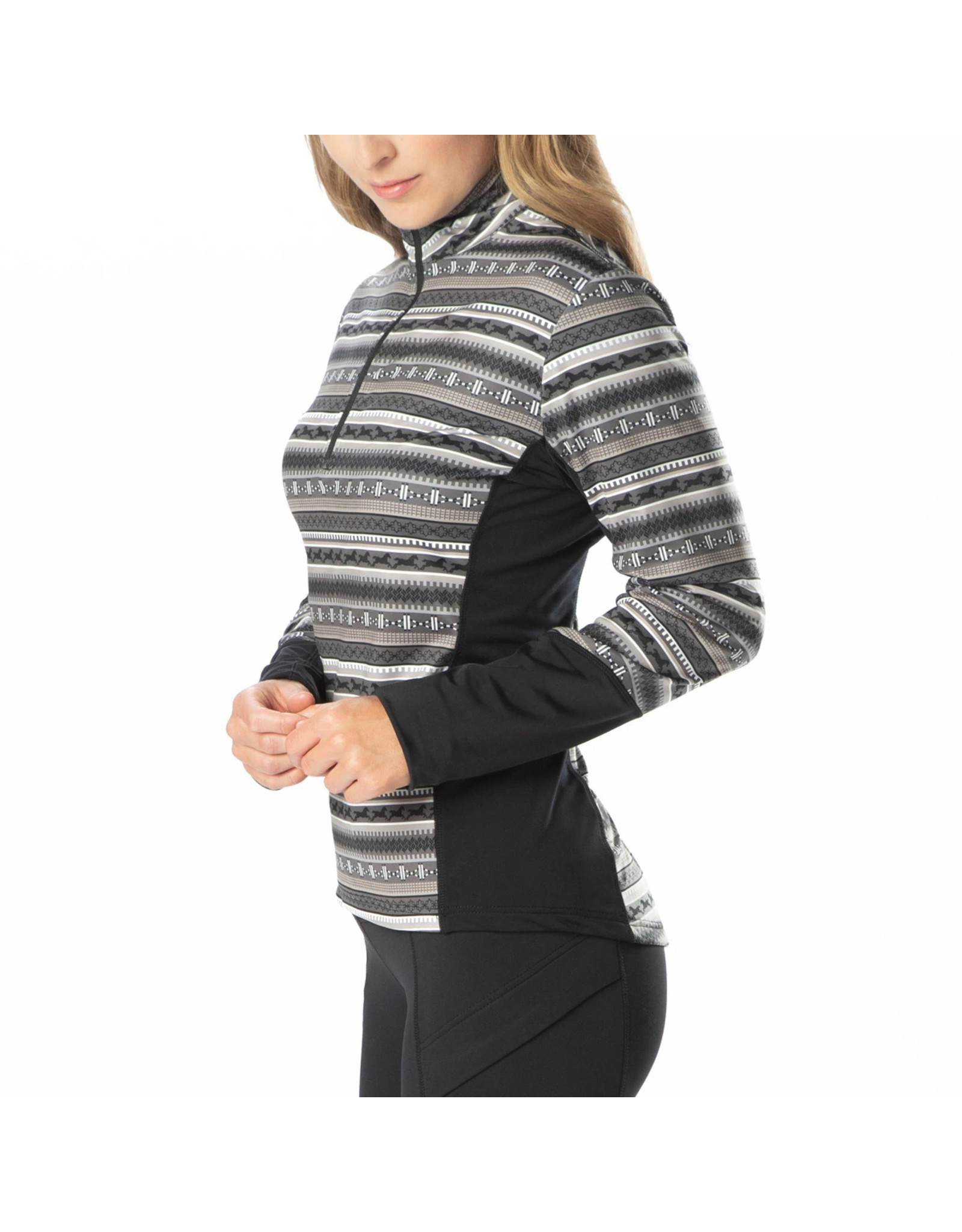 Kerrits Fair Isle Fleece Tech Top