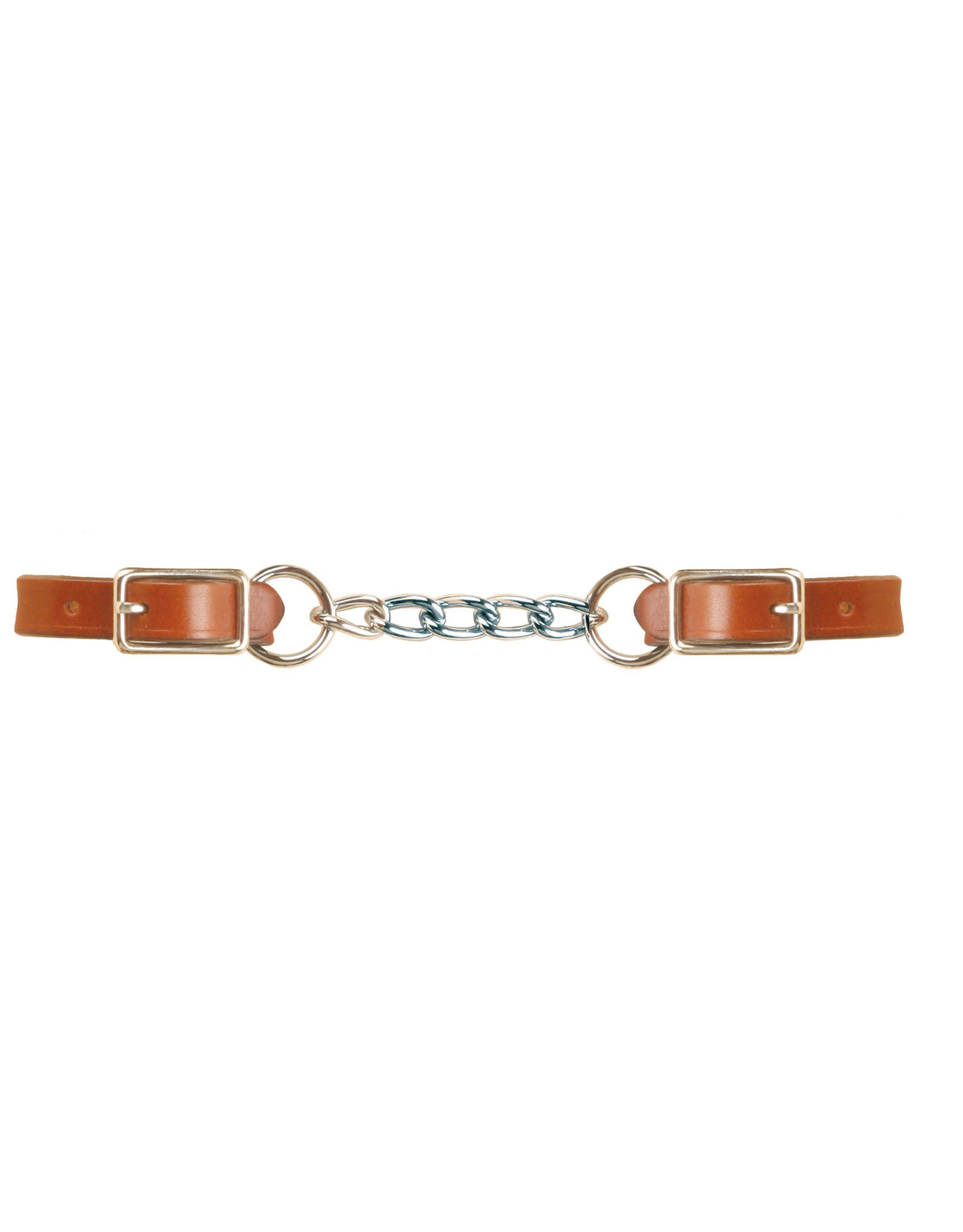 """Curb Single Chain, Leather 5/8"""" 646"""