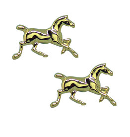 Running Horse Gold Plated Earrings