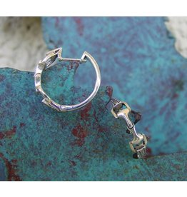 Baron Equestrian Earrings Sterling Snaffle Bit Horse E300