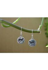Baron Equestrian Earrings Sterling Horse Silhouette E301