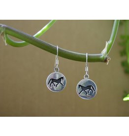 Baron Equestrian Earrings Sterling Horse Silhouette E301