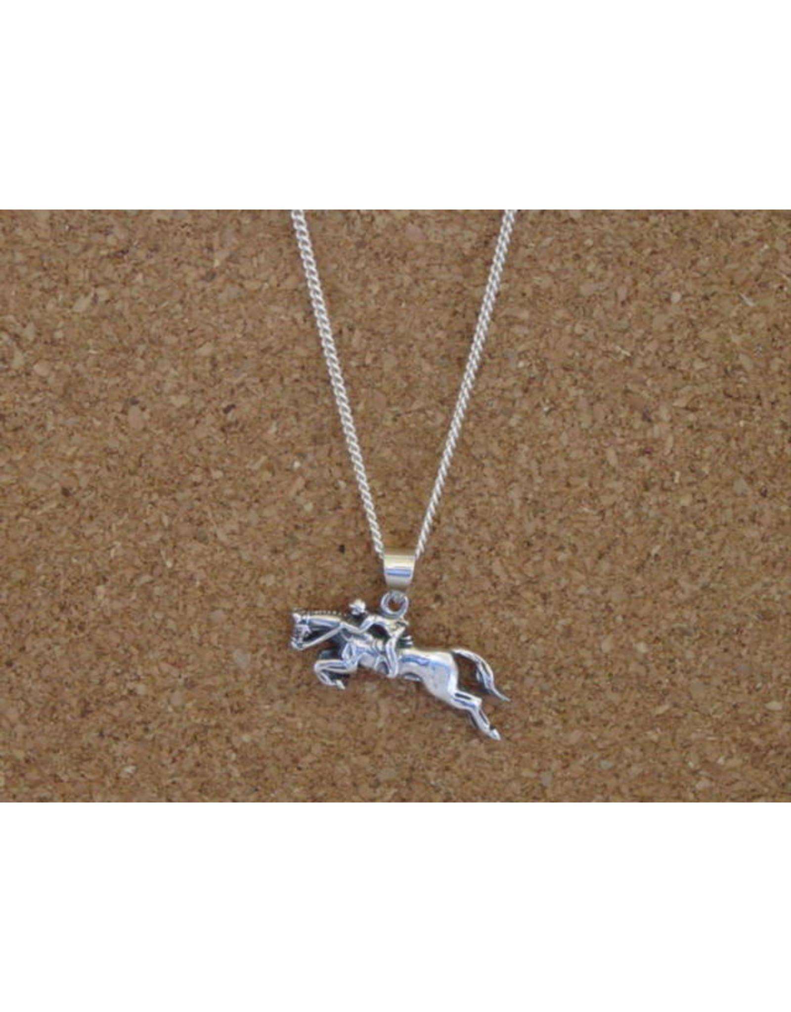 "Baron Equestrian Necklace Hunter Jumper Pendant with 18"" Chain P508"