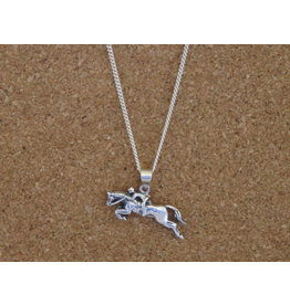 "Baron Equestrian Necklace Hunter Jumper Pendant with 18"" Chain P508"