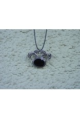 Baron Equestrian Necklace Rearing Horse Black Onyx Pin/Pandent #B110