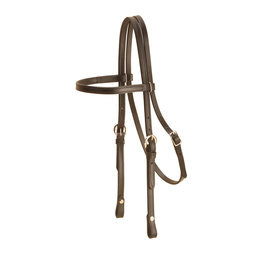 Tory Leather Headstall Browband  325B Black