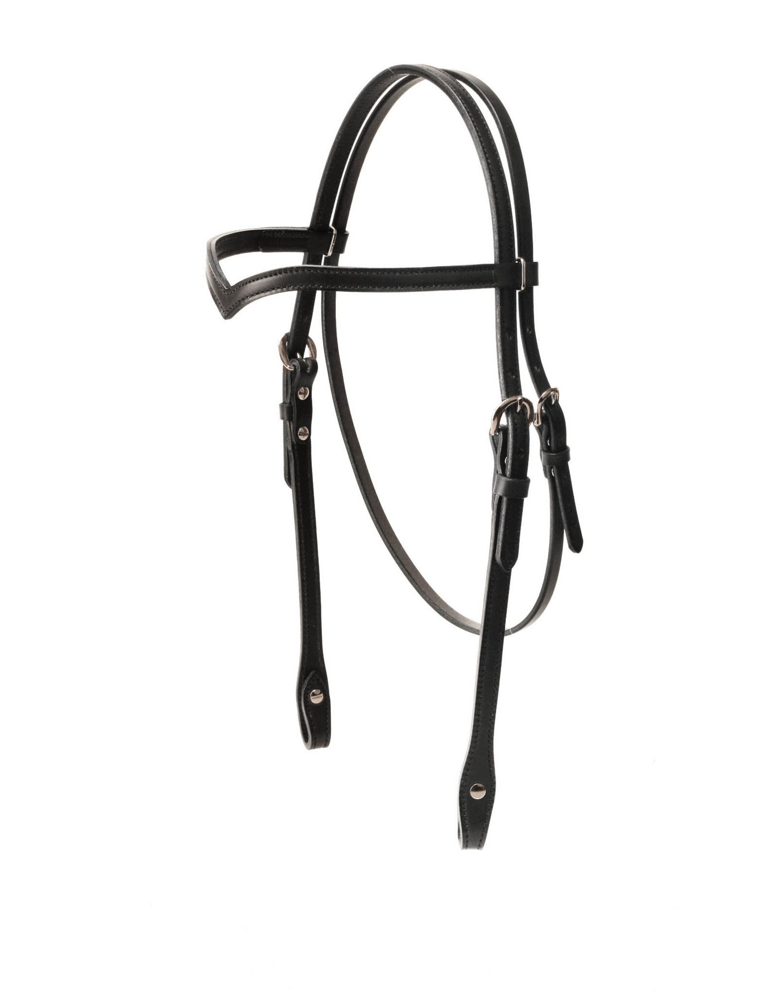 Tory Leather Headstall Vee Browband 308