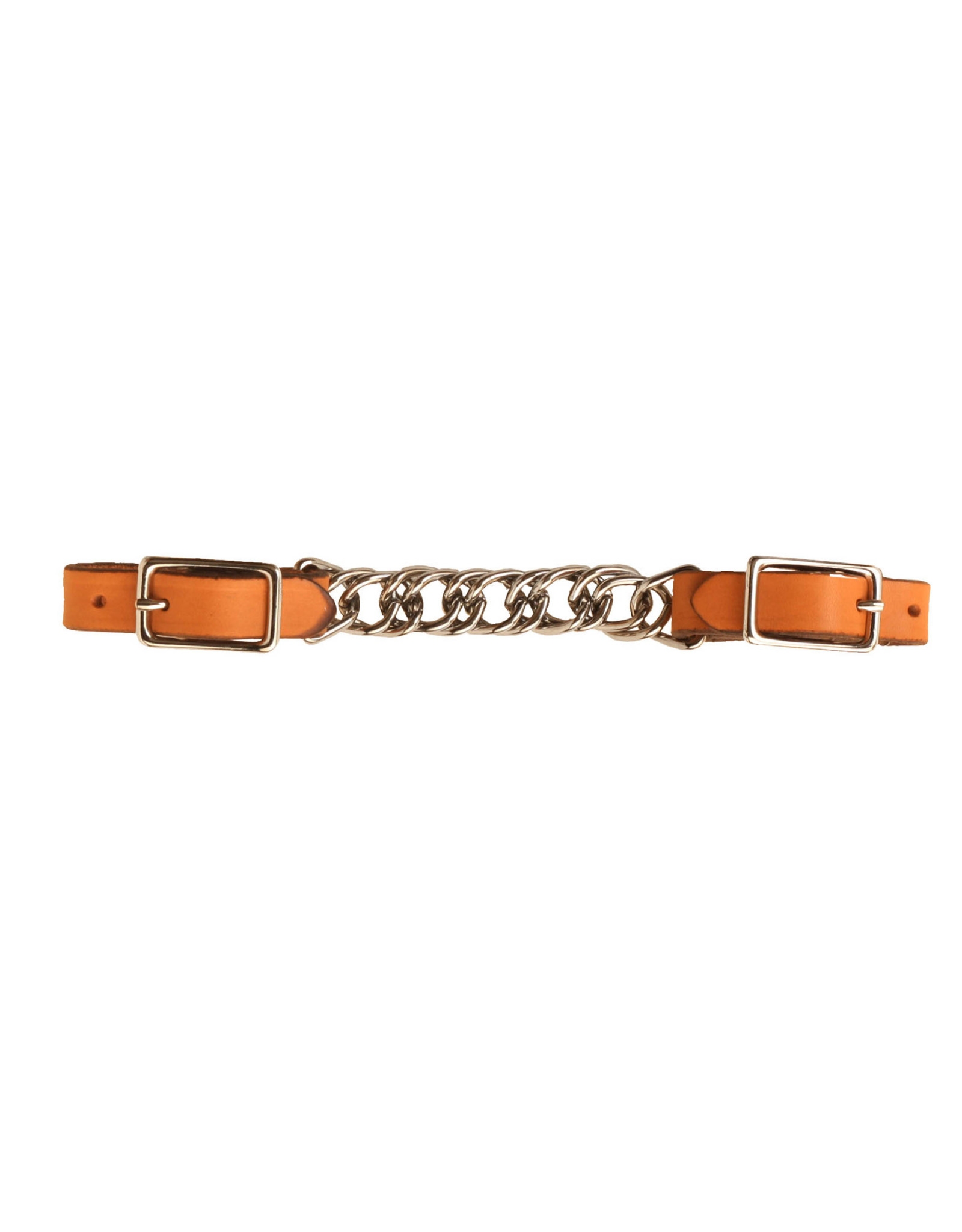 Leather Curb Single Chain TOR 5/8""