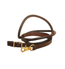 "Rolled Roping Reins 3/4"" x 7' Dark Oil"