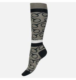 Horze Socks Jacquard Knit Riding Knee Fallen Rock
