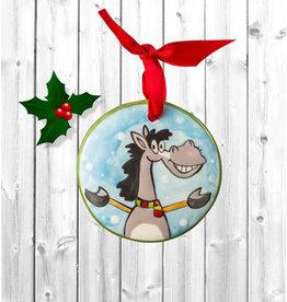Nola Watkins Ornament Ceramic Christmas Horse