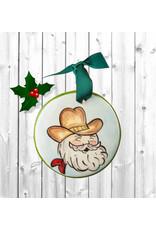 Nola Watkins Ornament Ceramic Santa Cowboy
