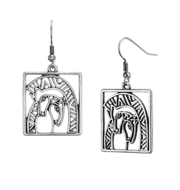 Laurel Burch Earrings Embracing Horses
