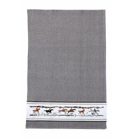 Kitchen Towel Jumping Horse Blue