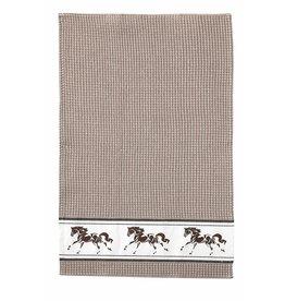 Kitchen Towel Running Horse Beige