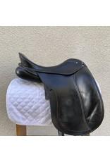 """JS Slite Schleese Dressage Saddle 18"""" Medium Wide"""