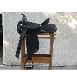 """abetta black synthetic trail western saddle 16"""" FQHB"""
