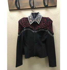 Black/Red Bling Rail shirt sz SM