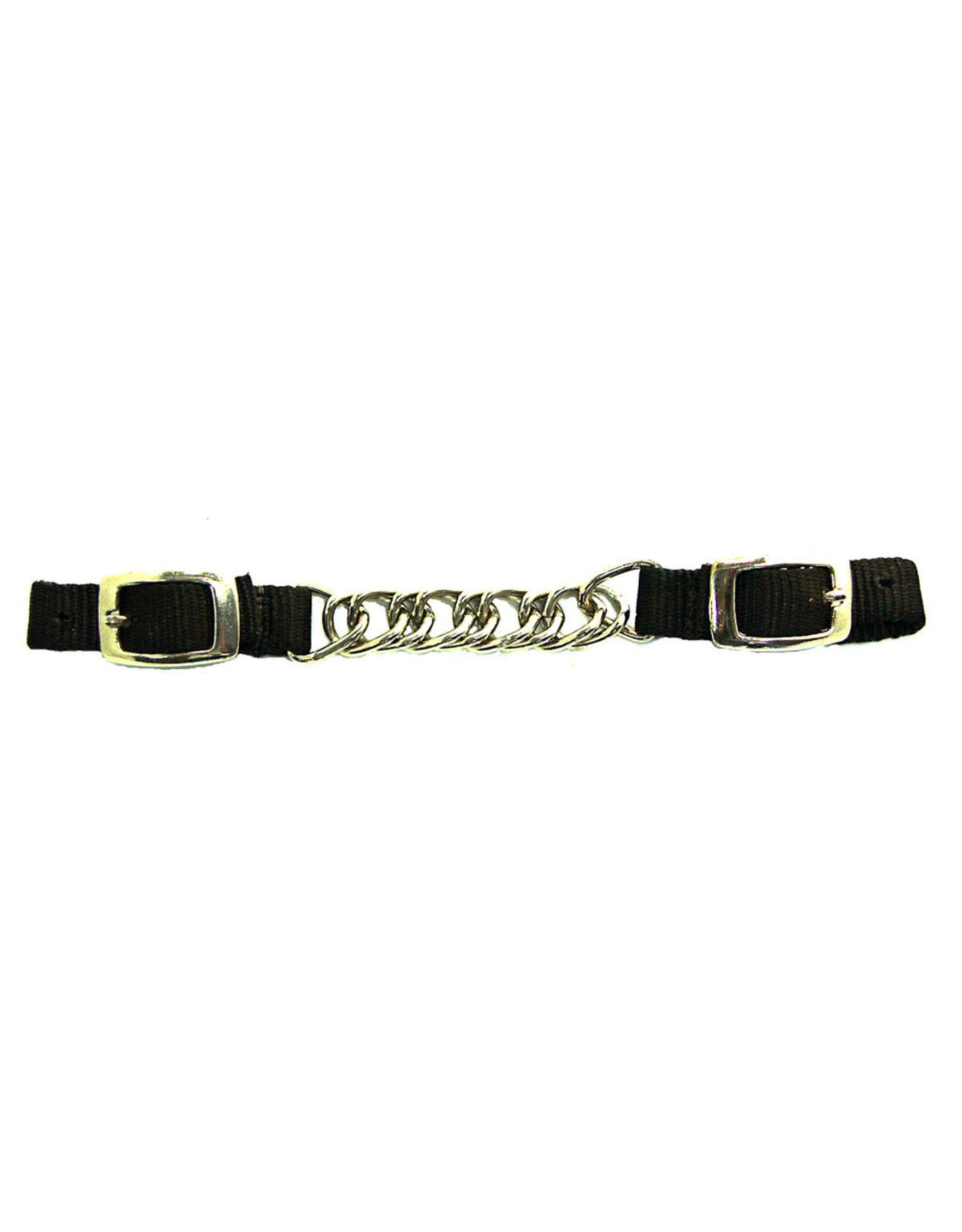 Curb Chain Nylon Brown Single Twist