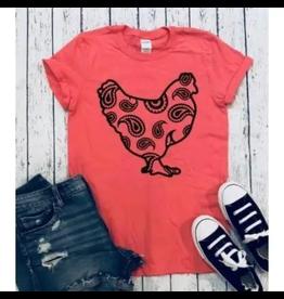 Paisley Chicken T-Shirt