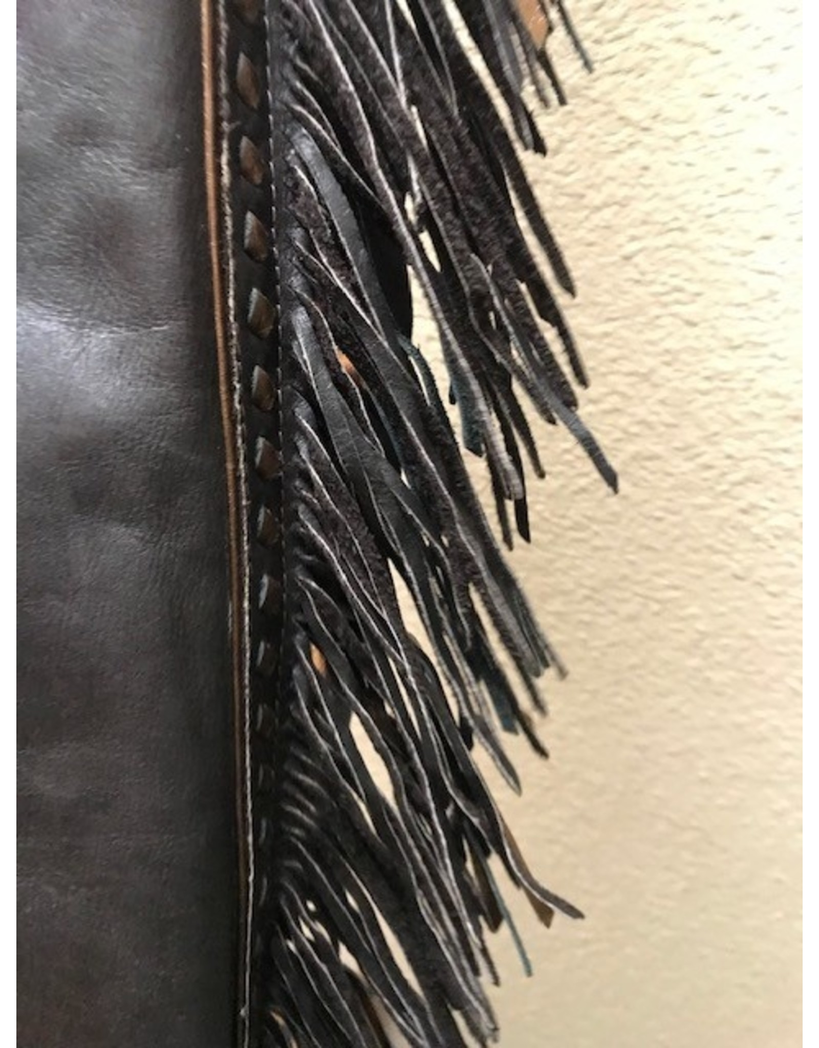 Rose gold fringe show chaps Small