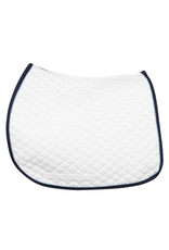 Tuffrider Pad All Purpose with Trim and Piping White/Navy/Light Blue