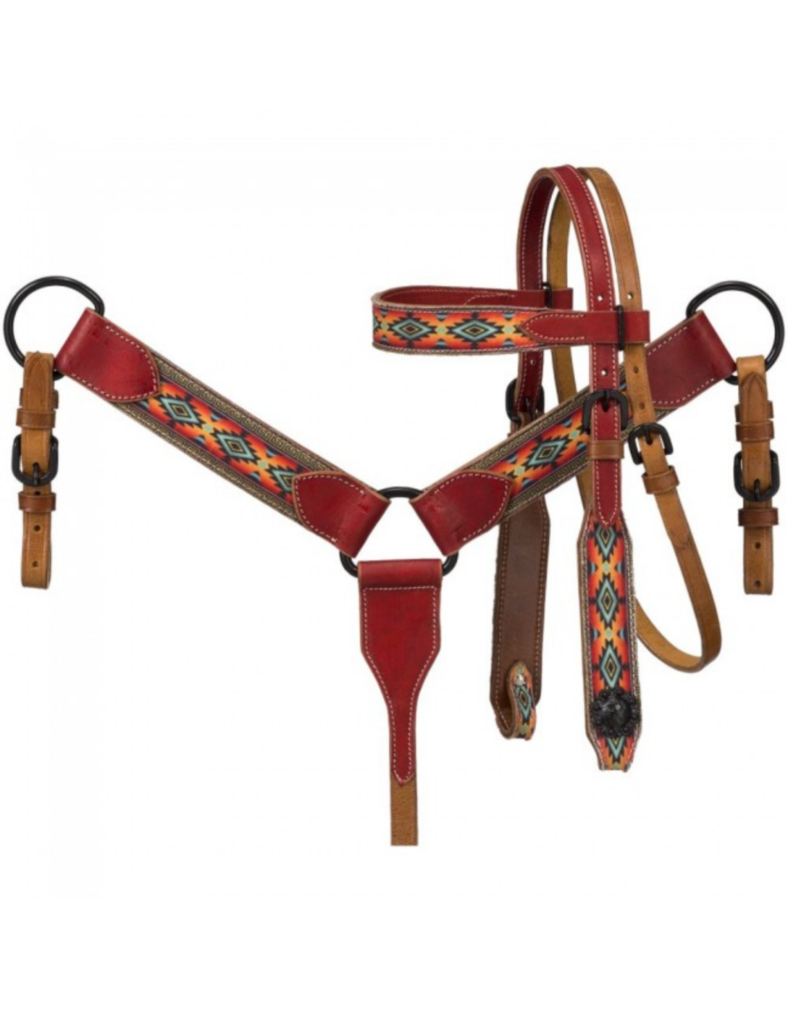 Miniature Printed Brow Headstall and Breastcollar Set