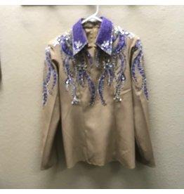 Woods Tan/purple Showmanship outfit  (2 pants) Med