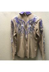 Woods Tan/purple Showmanship outfit(2 pants)  Med