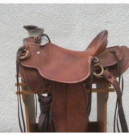 """D R Hoover Wade Saddle 16"""" Basketweave Full Quarter Horse Bars"""