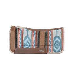 Weaver Western Pad Contoured Wool Blend Felt Blue/Brown H36 32x32