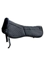 Saddle Fitting Half Pad Removable Maxtra Foam Inserts Black