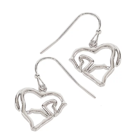 Earrings Horse Body & Heart
