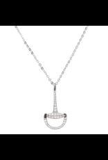Necklace Sterling Silver & CZ Snaffle Bit
