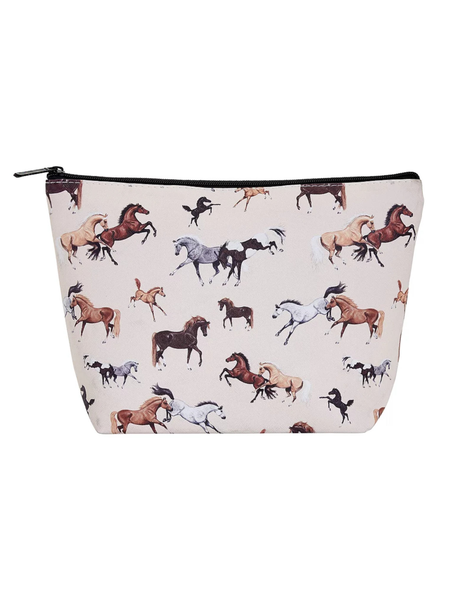 """Cosmetic Case """"Lila"""" Horses All Over Large"""